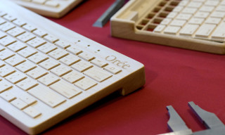 Bluetooth Powered Wooden Keyboard by Orée