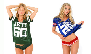 Victoria's Secret NFL Line Modeled by Jessica Hart And Elsa Hosk