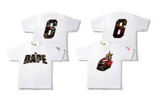 LeBron James' UNKNWN Collaborates with Bape on a T-Shirt Series