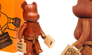Medicom Toy x Karimoku x Yoshida & Co Wooden 400% Bearbrick