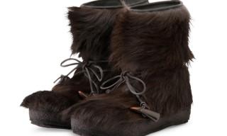 Moncler Gamme Bleu Fur Boots