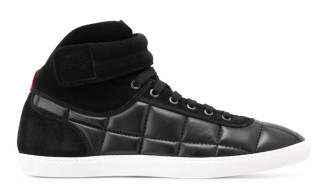 Moncler Gamme Bleu Leather Racing Sneakers