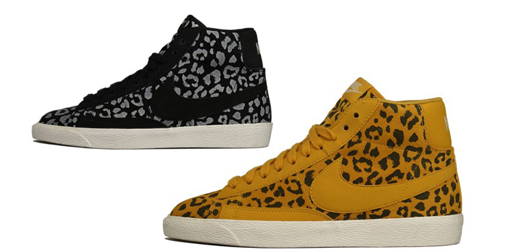 nike blazers leopard print