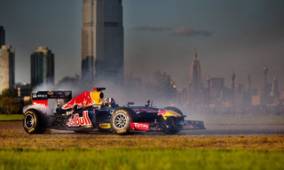 Video: Red Bull Racing's Formula One Car Lays Rubber on the Grand Prix of America Streets in New York