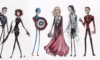 What If Tim Burton Drew The Avengers?