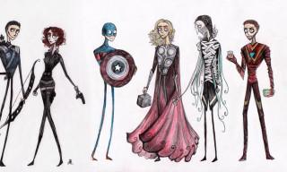What If Tim Burton Drew The Avengers?