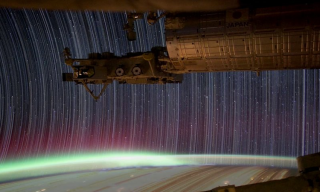 Video: International Space Station Star Trail Time-Lapse