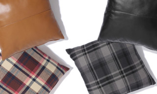 Bape Check Leather Cushions
