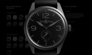 Bell & Ross 'Vintage BR Phantom' Military Watch