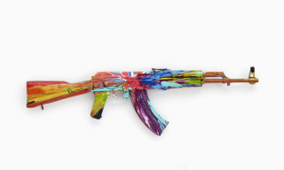 Damien Hirst 'Spin AK47′ for Peace Day 2012