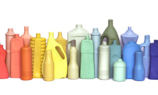 Colorful Collection Of Porcelain Vases Inspired by Discarded Plastic Bottles