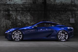 Lexus Lf Lc Blue Hybrid Sports Car Highsnobiety