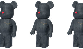 Medicom x Levi's Black Denim 1000% Bearbrick
