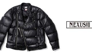 NEXUSVII Topflite Leather Riders Down Jacket
