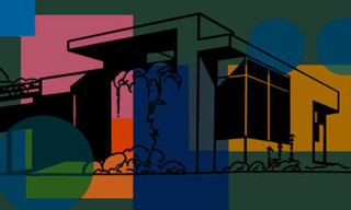 Mid-Century Case Study House Prints By Oren Sherman