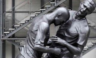 Zinedine Zidane Headbutt Statue by Adel Abdessemed