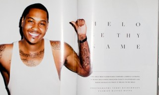Carmelo Anthony by Terry Richardson