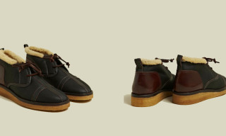 EOTOTO Shearling Lined Leather Shoes