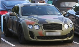 Mario Balotelli Wraps Bentley Continental GT in Camouflage