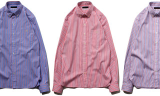 Stussy x Thomas Mason Amella Stripe Button Down Shirt