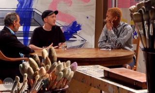 Video: Pharrell Interviews David Salle & KAWS