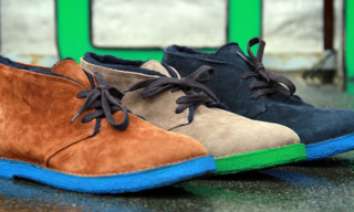 Buttero Fall/Winter 2012 Colored Sole Desert Boots