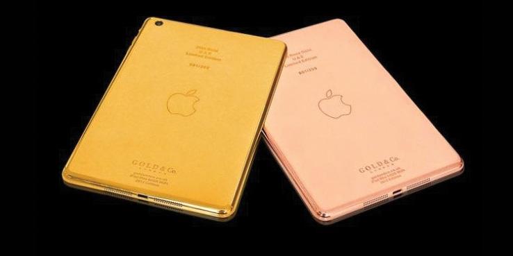 gold co introduces 24 karat gold rose gold ipad minis highsnobiety. Black Bedroom Furniture Sets. Home Design Ideas