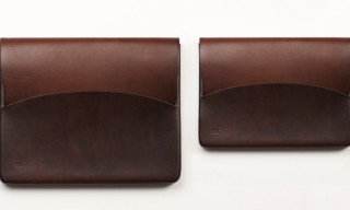 Hand Molded Leather iPad Case by FEIT