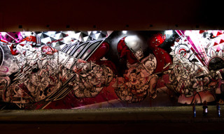 How & Nosm Paint Mural at Houston & Bowery in New York City