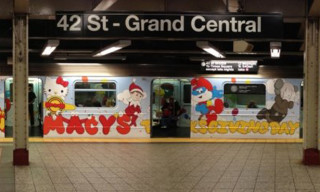 KAWS Wraps MTA Subway Train Inside and Out for Macy's Thanksgiving Day Parade