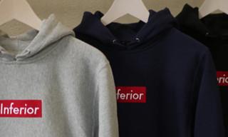 "Mark McNairy x Heather Grey Wall ""Inferior"" and ""F*ck Ivy"" Hooded Sweatshirts"