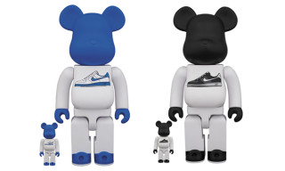 Medicom x Nike Lunar Force 1 Bearbrick 100% & 400% Set
