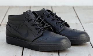 Nike SB Janoski Mid Premium Brogue Black/Black