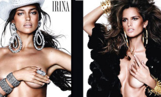 Mario Testino Shoots Topless Top Models for Vogue Spain December 2012