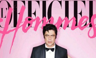 Benicio Del Toro Covers the Winter Issue of L'Officiel Hommes Paris