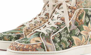 "Christian Louboutin Rantus Orlato ""Tapestry"" High Top Sneaker"
