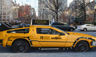 Concept Delorean New York Taxi Cab