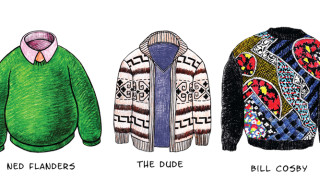 Illustrations of Iconic Sweaters – Flanders, The Dude, Cosby, and More