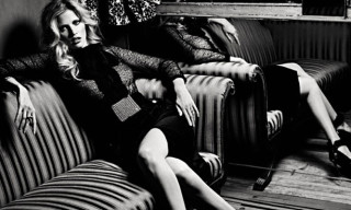 Lara Stone by Hedi Slimane for Vogue Russia