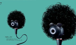 Music Icons Imagined as Earbuds