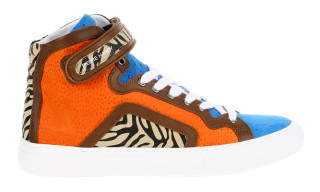 Pierre Hardy Color Block Zebra High Top Sneaker