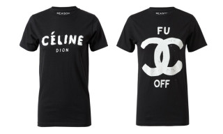 fuCC off and Céline Dion Designer Spoof T-Shirts by Reason