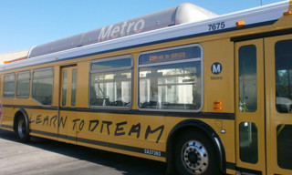 John Baldessari Designs Los Angeles Bus for Arts Matter