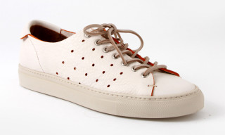 Buttero Coloured Edge Low Top Leather Sneaker