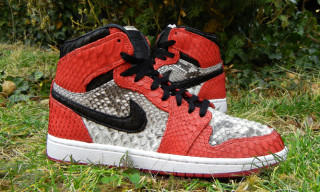 Genuine Python Air Jordan 1s by JBF Customs