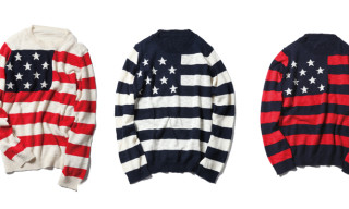 SOPHNET. Stars And Stripes Crew Neck Knit