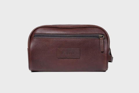 Barbour Coats Are A Lifelong Investment That Just Get Better With Age And The Same Can Be Said For Their Bags This Dark Brown Wash Bag Is 100 Leather