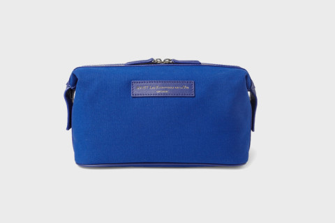 Designed For Purpose Executed With Style This Want Les Essentiels De La Vie Dopp Kit Is Constructed In A Cobalt Blue Organic Cotton Canvas Leather