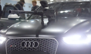 "Watch Two Audi RS 4 Avant's Go Head-to-Head in the ""Ultimate Paintball Duel"""