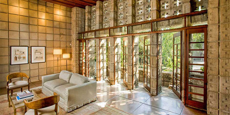 frank lloyd wright 39 s millard house for sale highsnobiety. Black Bedroom Furniture Sets. Home Design Ideas